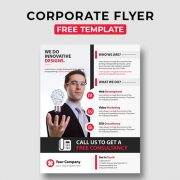 Corporate Free PSD Flyer Template Vol.7