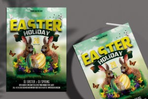Easter Day Free PSD Flyer Template