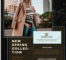 Fashion Show PSD Flyer Template for Free