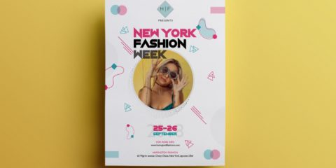 Fashion Week – Free PSD Flyer Template Vol.4