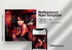 Free Afro Beat Party Flyer Template in PSD