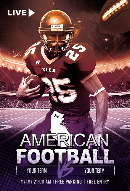 Free American Football Flyer Template in PSD