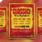 Free Classic Music PSD Flyer Template
