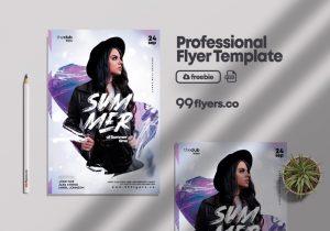 Free Club Night Flyer Template in PSD
