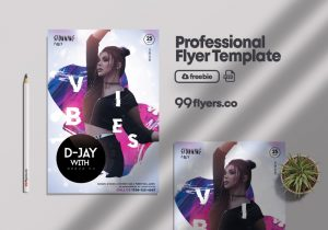 Free Club Night Vibe Flyer Template in PSD