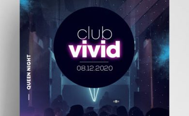 Free Club Vivid Flyer Template vol2 in PSD