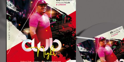 Free DJ Club Night Flyer Template in PSD