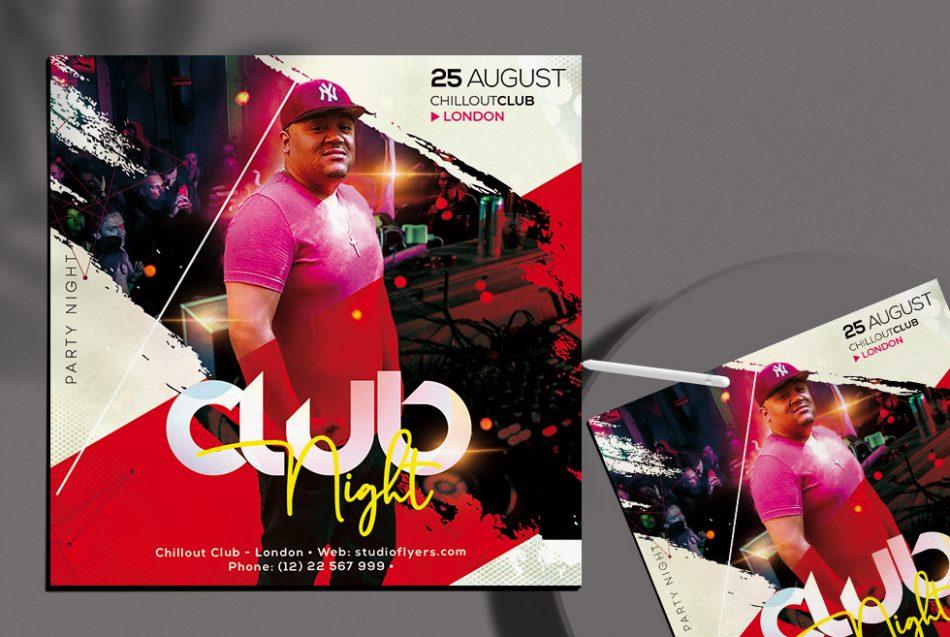 Free DJ Club Night Flyer Template in PSD