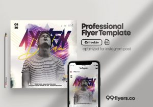 Free DJ Live Performance Flyer Template in PSD