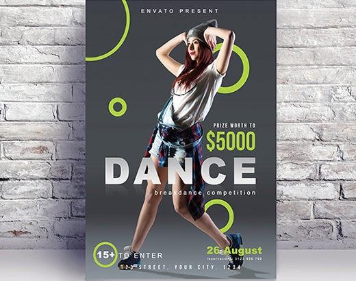 Free Dance Dj Night Flyer Template in PSD