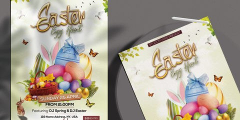 Free Easter Egg Hunt Flyer Template in PSD