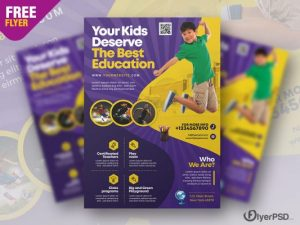 Free Education Institute Flyer PSD Template