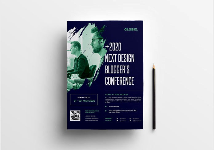 Free Event Flyer Template in PSD