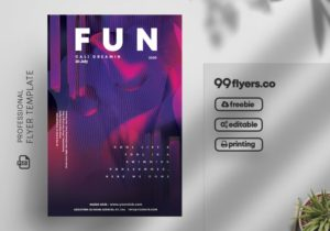 Free Fun Club Party Flyer Template Vol2 in PSD
