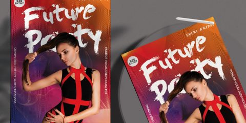 Free Future Club Party Flyer Template in PSD