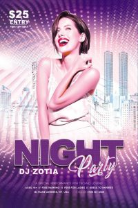 Free Girls Night Flyer Template in PSD