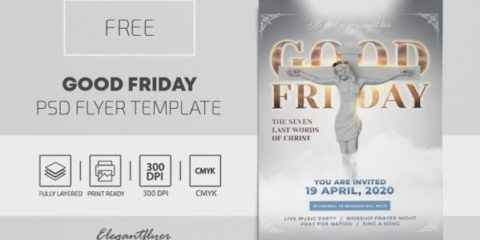 Free Good Friday PSD Flyer Template