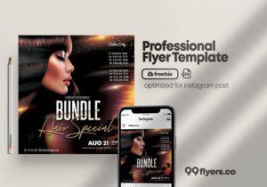 Free Hair Bundles Flyer Template in PSD