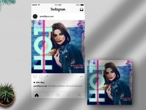 Free Hot Friday Night Instagram Post Template in PSD