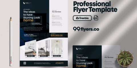 Free Interior Design & Furniture Flyer Template in PSD