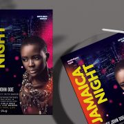 Free Jamaica Night Flyer Template in PSD