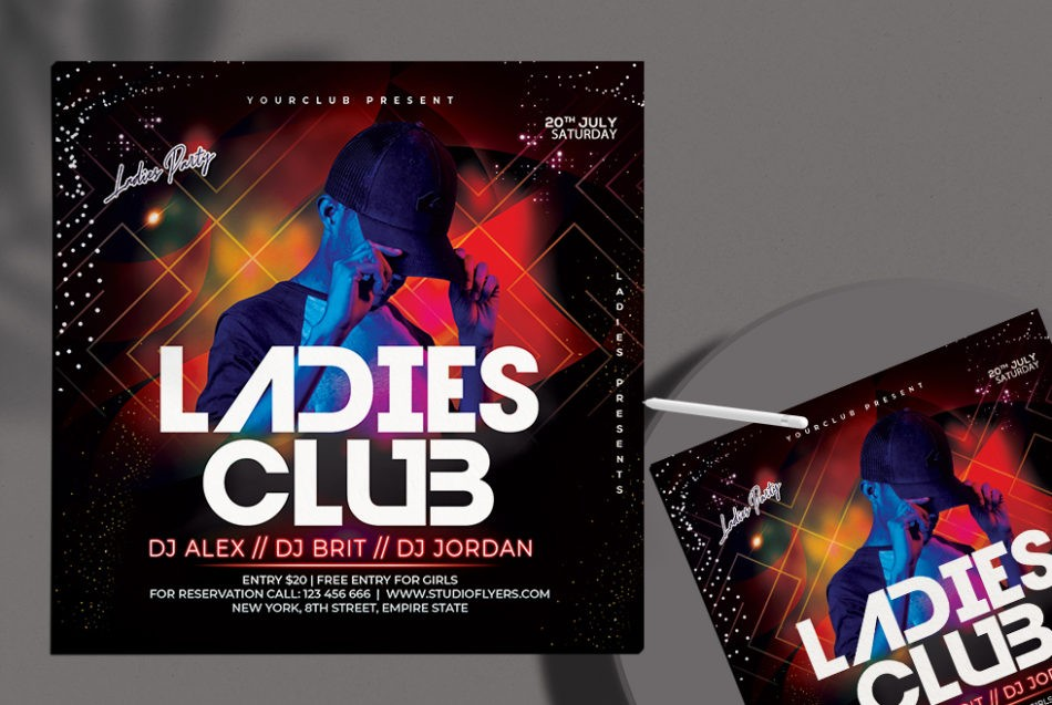 Free Ladies Party Flyer Template in PSD
