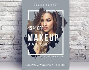 Free Makeup Salon Flyer Template in PSD