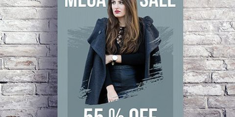 Free Mega Sale PSD Flyer Template