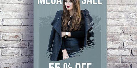 Free Mega Sale PSD Flyer Template