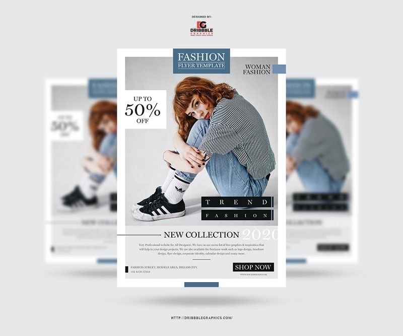 Free Modern Fashion Flyer Template in PSD