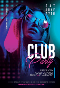Free Night Club Flyer Template in PSD