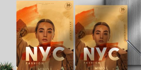 Free Nyc Fashion Party Flyer Template in PSD