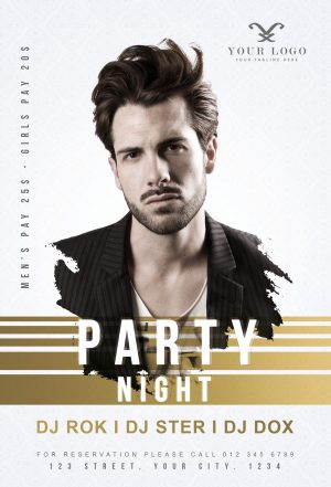 Free Party Nights Flyer Template in PSD