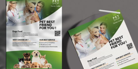 Free Pet Shop Flyer Template in PSD