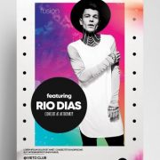 Free RIO Concert Abstract Flyer Template in PSD
