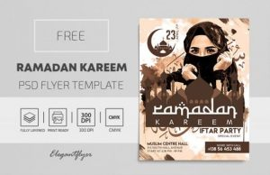 Free Ramadan Kareem Flyer Template in PSD