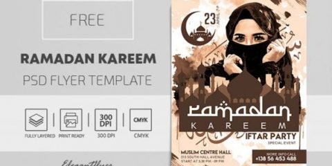 Free Ramadan Kareem Flyer Template in PSD