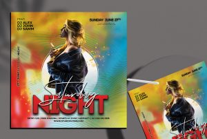 Free Saturday Night Flyer Template in PSD