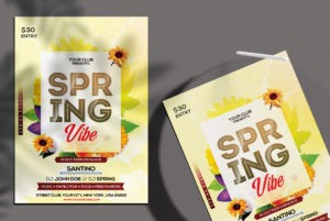 Free Spring Vibe Flyer Template in PSD