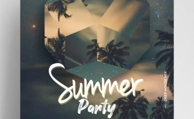 Free Summer Party Flyer Template in PSD