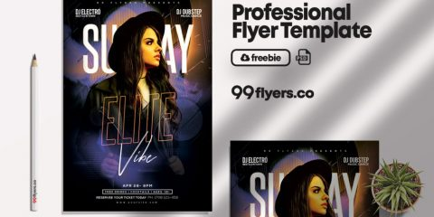 Free Sunday Elite Vibe Flyer Template in PSD