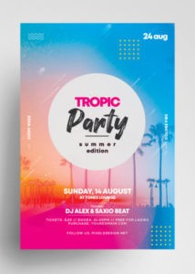 Free Tropic Party PSD Flyer Template