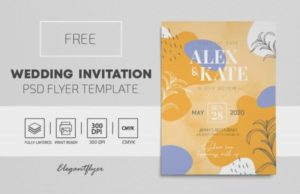 Free Wedding Invitation Flyer Template in PSD