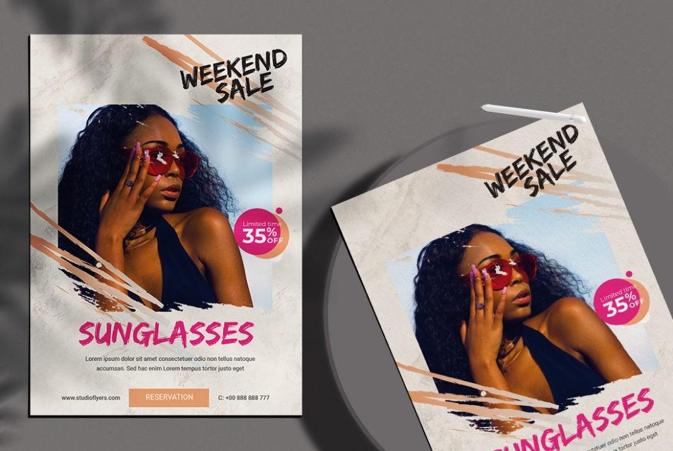 Free Weekend Sale Flyer Template in PSD