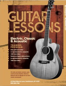 Guitar Lessons Free PSD Flyer Template