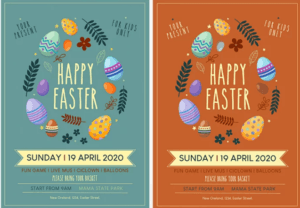 Happy Easter PSD Flyer Template for Free