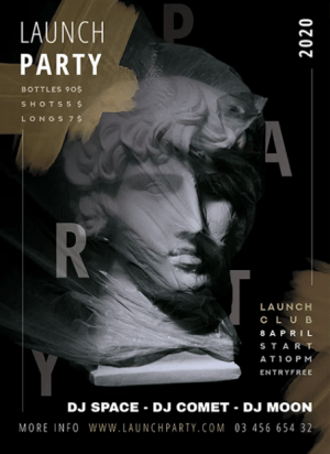 Launch Night Party Flyer Free PSD Template