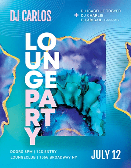 Lounge Party Free PSD Flyer Template