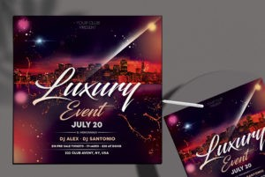 Luxury Event PSD Flyer Template for Free
