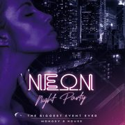 Neon Club Flyer – Free PSD Template